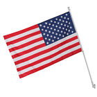 3x5 Spinning Tangle Wall Mount Flagpole Kit US Flag 6Ft Silver Memorial Day