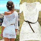 US Women Lace Crochet Bikini Cover Up Swimwear Bathing Suit Summer Swimwear