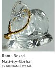 GORHAM CRYSTAL NATIVITY RAM IN ORIGINAL BOX