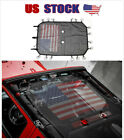 fit Jeep Wrangler JK 4dr Car Sunshade Top Cover UV Protection USA Flag Roof Mesh