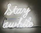 New STAY WILD Wall Decor Artwork Real Glass Acrylic Neon Light Sign 14x10