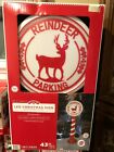 NIB LED Christmas Blow Mold Reindeer Parking Sign W Timer 43in Tall Free Ship