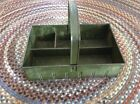 Antique Wilco Han-D-Tray -  Rustic Primitive Metal Caddy Tray Tool Box Tote