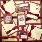 Premade Scrapbook Page SEWN Embellish Kit Card Making 12 pieces Laugh