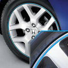 Wheel Bands Sky Blue/Silver Pinstripe Rim Edge Trim for Honda Civic (Full Kit)
