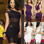 Sexy Women Lace Backless Bandage Bodycon Evening Party Cocktail Club Mini Dress