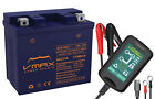 VMAX XCA100L7 SCOOTER+15A CHARGER BATTERY UPGRADE SYM 50cc JetEuro 10 12 12V 7a