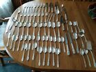 76 Pieces 1847 Rogers Bros International Silver Plated Silverware Engraved