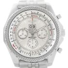 BREITLING for Bentley 6.75 A44362 49 Mm Chronograph Auto White Dial Watch ' Exce