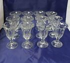 Vtg Lot Of 12 Glasses Soda Fountain Parfait Dessert Ice Cream Sundae Tulip Style