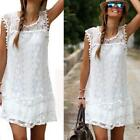 Women Lace Mini Sundress Summer Beach Party Casual Dress Plus Size LJ