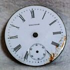 American Waltham Watch Co. Antique Pocket Watch Enamel Dial & Movement For Parts