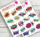 Comic Book Phrases Words Stickers Scrapbook Planners Comics Sayings Precut