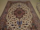 Wool-Silk, Base pure Silk Hand Knotted Very Fine, and Rare  80 RAJ 6' 8