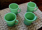 COLLECTIBLE/VINTAGE 4 ANCHOR HOCKING FIRE KING JADEITE COFFEE MUGS WITH D HANDLE