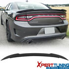 Fits 15-20 Dodge Charger SRT8 SRT Hellcat Flush Mount Matte Black Trunk Spoiler