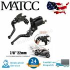 1 Pair 7/8'' 22MM Motorcycle Adjustable Brake & Clutch Master Cylinder Levers US