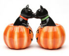 Black Cats Pumpkin Magnetic Salt Pepper Shakers Home Kitchen Decor Colle