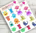 Cute Monsters Scary Stickers Scrapbook Planners Diary Fun Crafts Precut