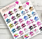 Girly Skulls and Bows Stickers Scrapbook Planners Diary Fun Crafts Precut
