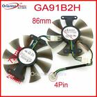 VGA Cooling Fan For SAPPHIRE RX560 GA91B2H 12V 035A 86mm 4Wire 4Pin