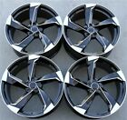 SET4 21X95 5X112 RS NEW STYLE BLACK WHEELS AUDI S5 A6 Q5 SQ5 A7 A8 S8 RS7 RS6