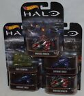 Hot Wheels Retro Entertainment Halo 5 Car Set B Gungoose Scorpion Warhog Wraith