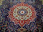 10X13 1940's BREATHTAKING ANTQ SIGNED TREE OF LIFE PERSIAN TABRIZZ ORIENTAL RUG