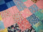 VINTAGE QUILT TOP, 77X91 INCHES, OLD FABRIC