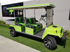 Green Custom Jeep Club Car Gas Lifted Limo 4 Passenger Utility Golf Cart 350cc