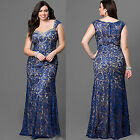 Ever-Pretty Plus Size Bridesmaid Dresses Womens Sleeveless Lace Ball Gown