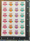 OWLS FESTIVE COLORS FOR SCHOOL CRAFTS  MORE ONE SHEET BEAUTIFUL STICKERS BUO1