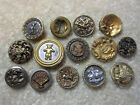 LOT OF SMALL/ MEDIUM  ANTIQUE/ VICTORIAN METAL PICTURE BUTTONS