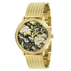 NWT Guess Gold-Tone Black Willow Dial Women's Watch W0822L2 $140
