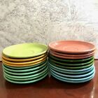 FIESTAWARE LOT VINTAGE 9 COFFEE CUPS 21 SAUCERS 3 SALT & 2 SUGAR HOMER LAUGHLIN