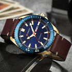 6 Colors Watches MENS date display Fashion Leather Quartz Wristwatches CURREN*
