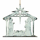 The Holiday Aisle Nativity Holy Night Shaped Ornament Set of 3