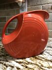 """fiestaware water tea pitcher orange rose color great condition 7 1/2"""" tall"""