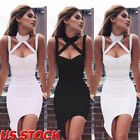 Women Bandage Bodycon Casual Sleeveless Evening Party Cocktail Club Mini Dress
