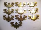 lot of 10 SOLID BRASS KEELER DRAWER DROP BAIL PULL HANDLE new old stock 3 3/4