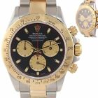 Rolex Daytona Cosmograph 116523 Black Paul Newman Steel Gold Two Tone Watch A9