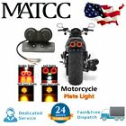 Motorcycle LED Twin Turn Signal Brake Tail Light License Plate Integrated Lamp