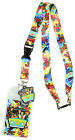 Scooby Doo Tie Dye Lanyard Keychain ID Holder Mystery Machine Rubber Charm and