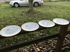 """"""" Dinner Plates 3 Brand New Two No Stikers Brand New Gold Trim 22k"""