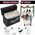 80 Color Set Markers Pen Touchfive New Graphic Art Sketch Twin Tip Point + Glove