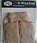 MAYA ROAD LAUNDRY DAY CANVAS PIECES 6 PIECES BAGS VINTAGE HANGERS