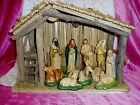 HANDMADE  HANDPAINTED LIGHT UP COMPLETE NATIVITY MANGER 11 PIECE SET