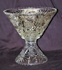 Old Vintage Anchor Hocking EAPC Star of David 2 Piece Punch Bowl