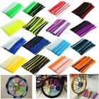 72Pcs Wheel Spoke Wrap Skin Coat Pipe Trim Covers Motorcycle Motocross Dirt Bike