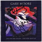 GARY MOORE Out in the Fields WILD FRONTIER Thin Lizzy Ian Paice Autograph SIGNED